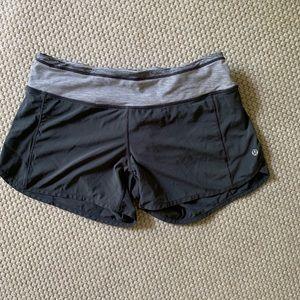 Lululemon Athletica grey lightweight shorts.
